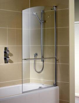 Showerlux Swing Figuro Shower Screen 915 x 1500mm - 1942001500