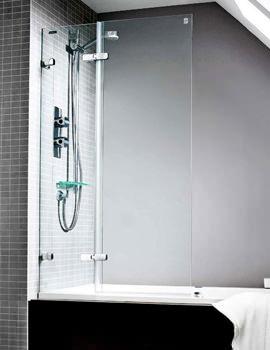 Designa Overbath Screen With Wide Panel 900 x 1500mm