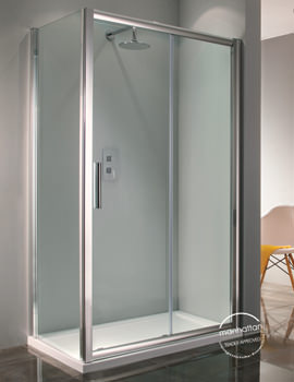 Manhattan 6 Straight Sliding Shower Door 1400mm