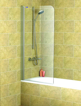 Showerlux Legacy Single Panel Overbath Screen 815 x 1500mm - 6270815100
