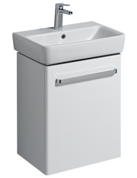 E200 500mm White Unit For 550mm 1 Or 2 Tap Hole Basin