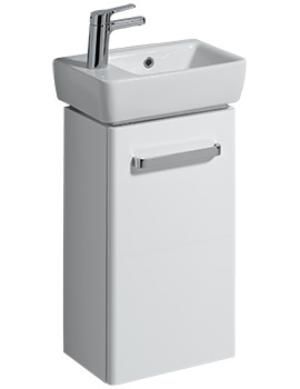 E200 348mm White Unit And 400mm 1 Left Hand Tap Hole Basin