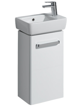 Twyford E200 348mm White Unit And 400mm 1 Right Hand Tap Hole Basin