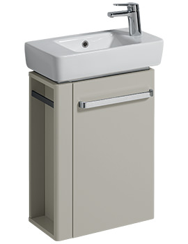 E200 448mm Grey Unit And 500mm Basin With Right Hand Tap Hole