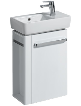 E200 448mm White Unit And 500mm Basin With LH Bowl And RH Tap Hole