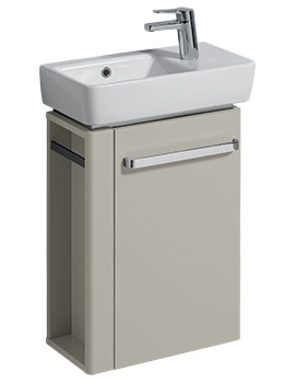 Related Twyford E200 448mm Grey Unit And 500mm Basin With LH Bowl And RH Tap Hole
