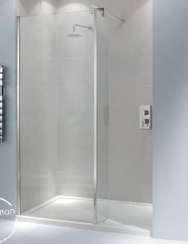 Related Manhattan 8 800mm Corner Wetroom With 300mm Stepped Return Panel