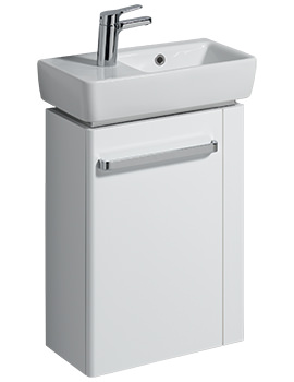 E200 448mm White Unit And 500mm Basin With RH Bowl And LH Tap Hole