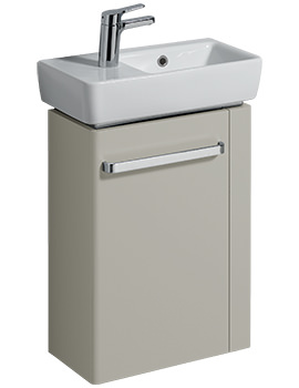 Related Twyford E200 448mm Grey Unit And 500mm Basin With RH Bowl And LH Tap Hole