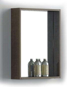 Beo Modern Style Brown Finish Mirror For Bathroom 520 x 700mm