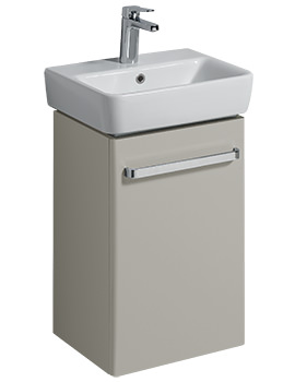 Twyford E200 400mm Grey Unit For 450mm 1 Or 2 Tap Hole Basin