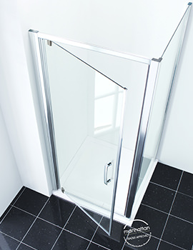 Manhattan New Era 6 Pivot Shower Door 760mm - C76P4860NCC