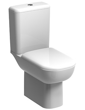 Twyford E500 Round Rimfree Flushwise Close Coupled WC Pan 680mm And Cistern