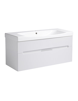 Diverge Gloss White 1000 x 450mm Wall Mount Unit - DIV1000W