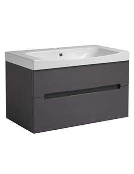 Roper Rhodes Diverge 800 x 450mm Charcoal Elm Wall Mounted Unit