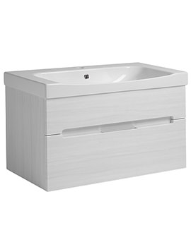 Diverge Alpine Elm 800 x 450mm Wall Mounted Vanity Unit
