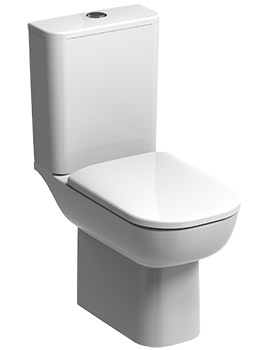 E500 Square Rimfree Flushwise Close Coupled WC Pan 680mm And Cistern