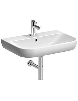 Twyford E500 Round 650 x 480mm 1 Tap Hole Washbasin - E54421WH