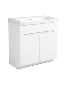 Diverge Gloss White 800 x 810mm Freestanding Unit - DIV8FW