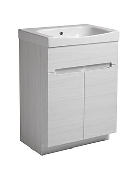 Diverge Alpine Elm 600 x 810mm Freestanding Unit