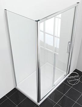 Manhattan New Era 6 Sliding Shower Door 1200mm - C12S4864NCC