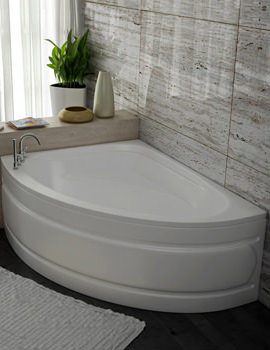 Beo Metropolis 5mm Acrylic Left Hand Offset Corner Bath 1500 x 1020mm