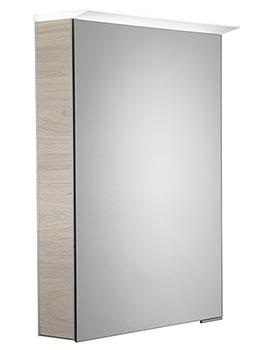 Roper Rhodes Virtue 505mm Light Elm LED Illuminated Mirror Cabinet