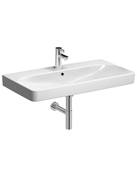 E500 Square 900 x 480mm 1 Tap Hole Washbasin - E54441WH