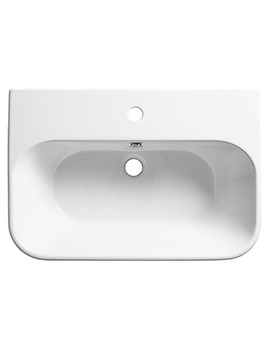 Version 650mm Wall Mounted Basin - V65SB