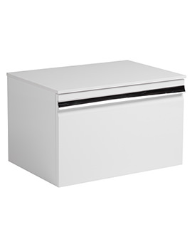 Roper Rhodes Pursuit White 600mm Wall Mounted Unit - PUR600W