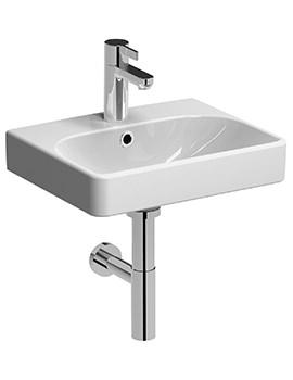 Twyford E500 Square 450 x 360mm 1 Tap Hole Handrinse Washbasin