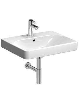 Twyford E500 Square 750 x 480mm 1 Tap Hole Washbasin - E54341WH