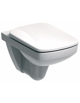 E100 Square Flushwise Wall Hung WC Pan 530mm - E11709WH