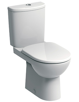 E100 Round Premium Close Coupled WC Pan 680mm And Cistern