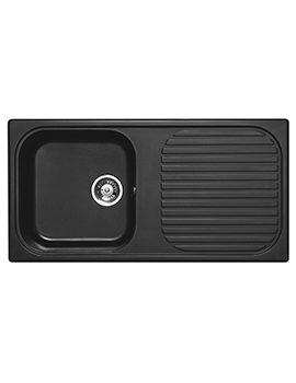 Astracast MSK 1.0 Bowl Composite Quartz Italian Black Inset Sink