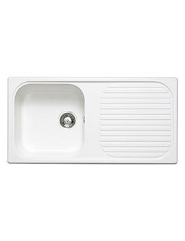 Astracast MSK 1.0 Bowl Composite Quartz White Inset Sink