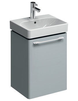 E500 Square 434mm Grey Unit And 450mm 1 Tap Hole Basin