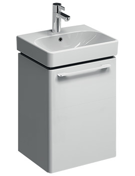 Twyford E500 Square 434mm White Unit And 450mm 1 Tap Hole Basin