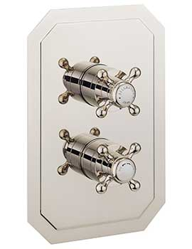 Crosswater Belgravia Crosshead Nickel Thermostatic Valve With 3D