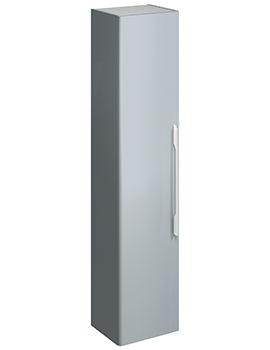 E500 Square 360 x 1800mm Grey Gloss Tall Furniture Unit