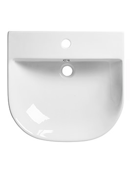 Zest 500mm Wide Wall Mounted Or Countertop Basin