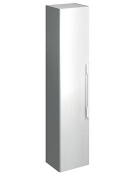 E500 Square 360 x 1800mm White Gloss Tall Furniture Unit