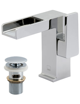 Synergie Progressive Mono Basin Mixer Tap With Clic-Clac Waste