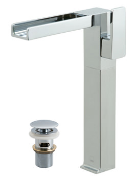 Synergie Extended Mono Basin Mixer Tap With Clic-Clac Waste