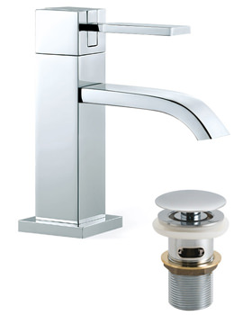 Instinct Mono Basin Mixer Tap With Clic-Clac Waste