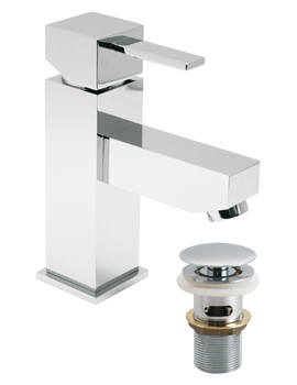 TE Single Lever Mono Basin Mixer Tap With Clic-Clac Waste