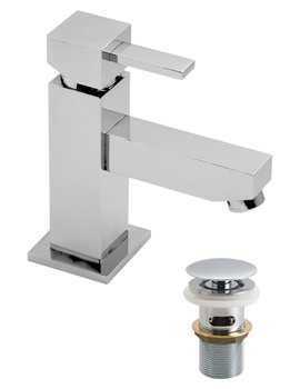 TE Mini Mono Basin Mixer Tap With Clic-Clac Waste