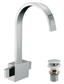 Geo Deck Mounted Mono Basin Mixer Tap With Clic-Clac Waste