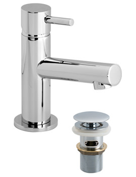 Vado Zoo Mini Mono Basin Mixer Tap With Clic-Clac Waste