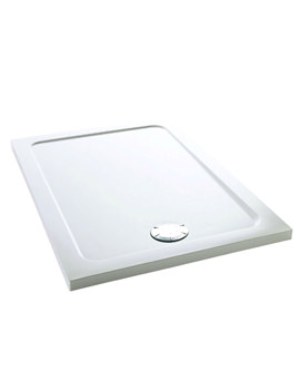 Flight 1200 x 760mm Low Rectangle Shower Tray - 1.1697.006.WH